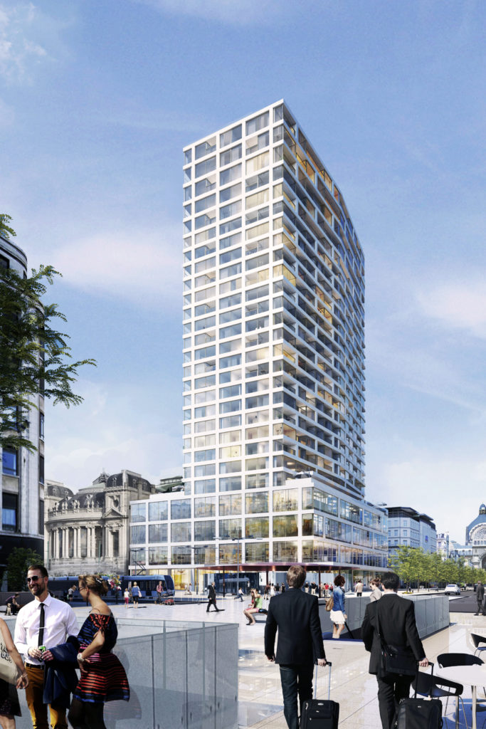 Transformatie woontoren van Antwerpen door Wiel Arets