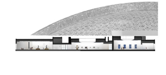 Louvre abu dhabi permanent galleries section wing 4 %c2%a9 ateliers jean nouvel 560x253