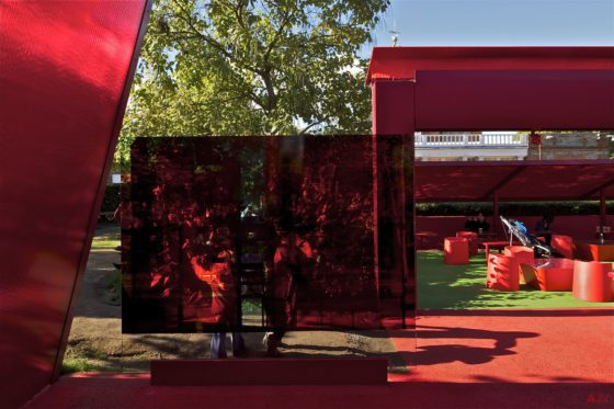 Serpentine Gallery - The Red Sun Pavilion. Foto: www.jeannouvel.com