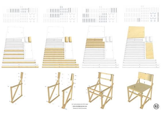 Bouwtekening construct dining chair  560x396