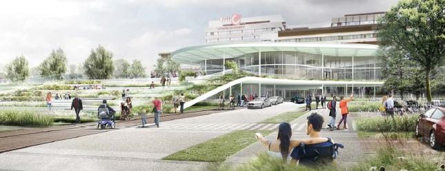 AMC Healtpark Nieuwe entree en park