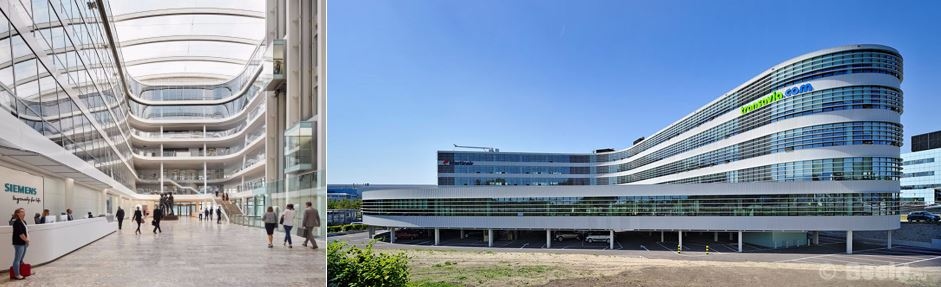 Siemens, München Duitsland, LEED platinum en Transavia, Schiphol, LEED platinum