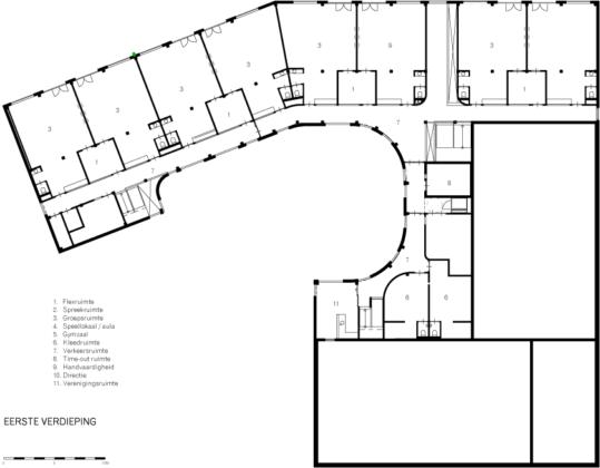 Tekening integraal kindcentrum de bollenstreek broekbakema3 539x420