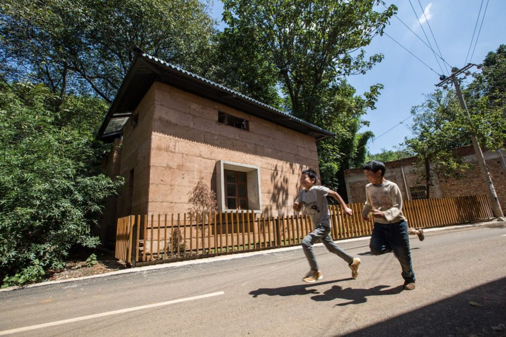Post-earthquake reconstruction / demonstration project of Guangming Village door The Chinese University of Hong Kong