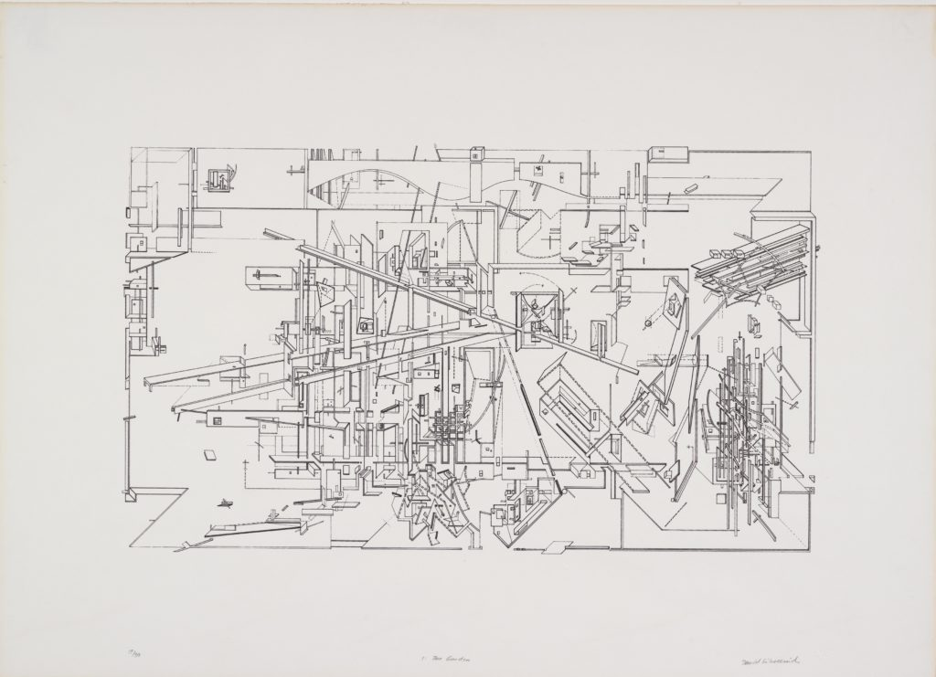 Daniel Libeskind, Micromegas, The Garden, 1979 © Daniel Libeskind. From the Collection of the Alvin Boyarsky Archive
