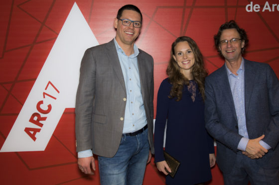 ARC17 Van links naar rechts: Jeroen Kuilman, Sandra Foppen, Hans Bloemendaal (Rohde & Grahl). Foto: Elvins Fotografie