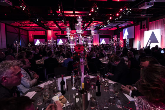 Voor de uitreiking van de ARC17 Awards toog tout architectonisch Nederland donderdag 30 november naar de Kauwgomballenfabriek in Amsterdam. Foto Elvins Fotografie