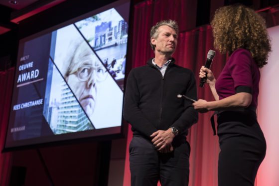 Juryvoorzitter van de ARC17 Oeuvre Award: Patrick Klooster. Foto: Elvins Fotografie