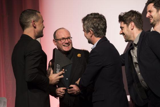 Francesco Messori en de winnaars van de ARC17 Innovatie Award: Superuse Studio. Foto Elvins Fotografie