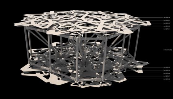 De koepel is opgebouwd uit een ruimtelijke vakwerkconstructie. Beeld: Atelier Jean Nouvel
