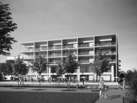 Tweede gebouw Atelier Kempe Thill in Nieuw-Zuid Antwerpen