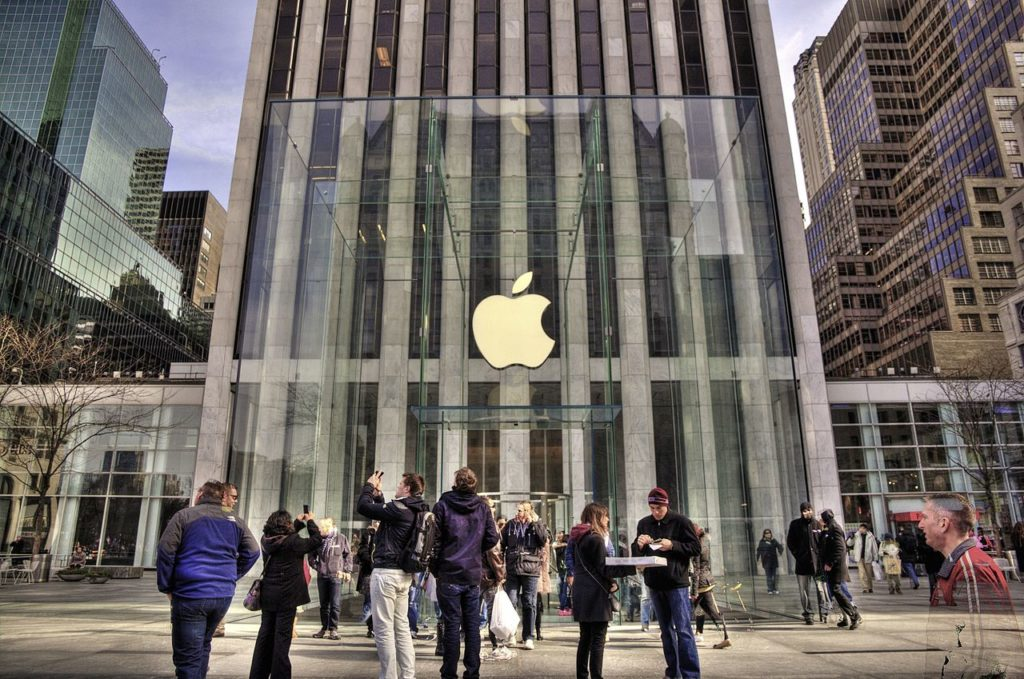 De Apple Store in New York door Bohlin Cywinski Jackson en constructeur Eckersley O'Callahan