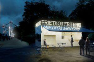 Brussel kiest voor frietkot onder architectuur