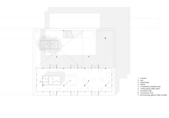 Middenpier plan groundfloor 1.200 copyright civic architects 560x391