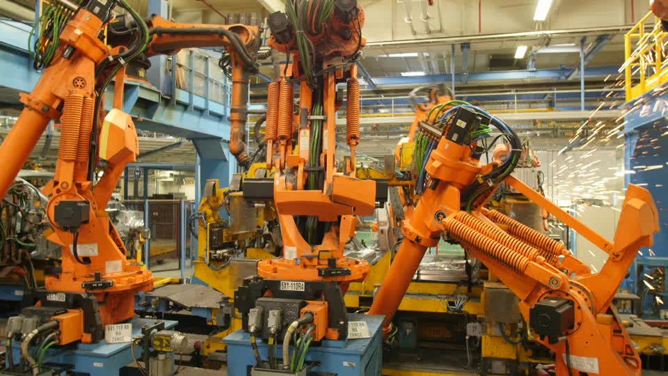 Robotarmen aan het werk