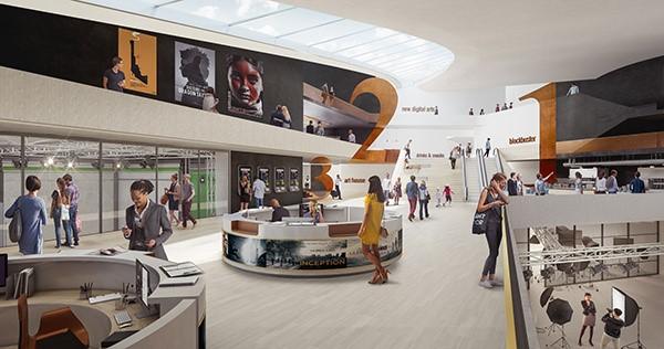 UNStudio_Cultureel centrum met bioscoop_Parijs_EuropaCity_Impressie-Flying-Architecture