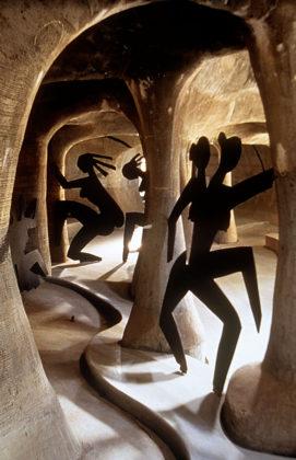 Amdavad Ni Gufa (1995) in Ahmedabad door Balkrishna Doshi, winnaar Pritzker Prize 2018, beeld VSF
