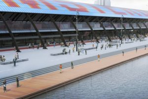 Nieuw plein aan IJzijde Amsterdam CS
